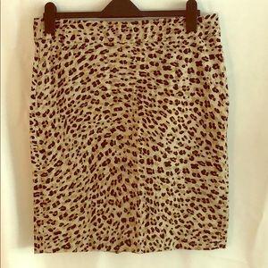 Banana Republic Leopard Skirt size 12